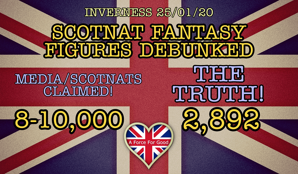 There were 2,892 on the Inverness Separatist Shuffle 25 January 2020
