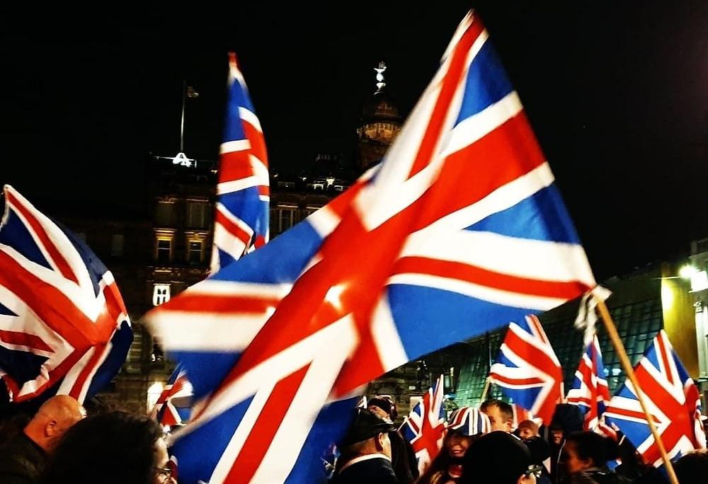 AFFG's Great British Brexit Celebration, 31-1-20. Pic AFFG.