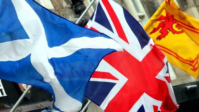 3 Great British Flags, photographed in Edinburgh.