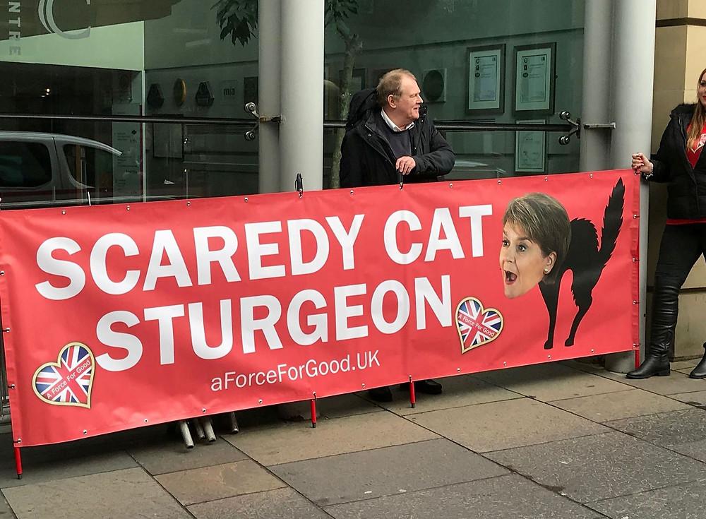 Scaredy Cat Sturgeon. Pic AFFG 14-11-18.