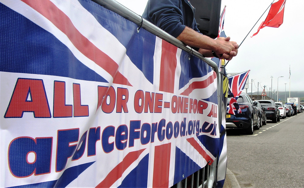 One of AFFG's Banners at Campbeltown, 27-7-19