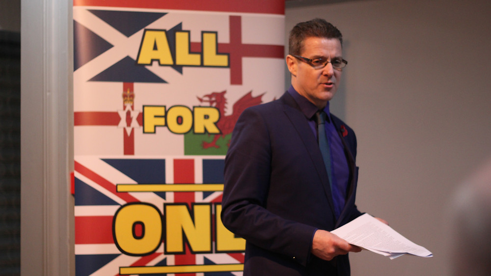 Alistair McConnachie at the AFFG Union Social. Pic AFFG