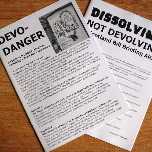 Danger of Devolution Pamphlets