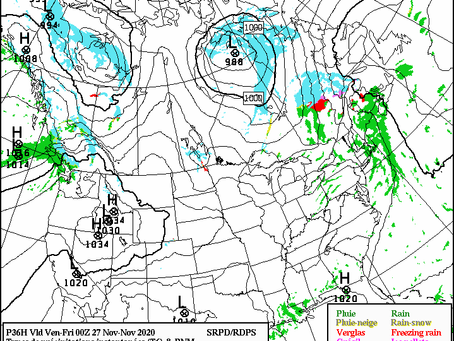 System to Bring Snow to Parts of Ontario, Quebec, and Nunavut Thursday:  #ONStorm QCStorm #NUStorm
