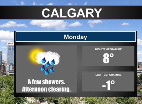 Cold front affecting parts of the Prairies could bring snow to parts of Alberta