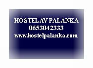 Broj telefona i email adresa Hostel AV Palanka, Bačka Palanka