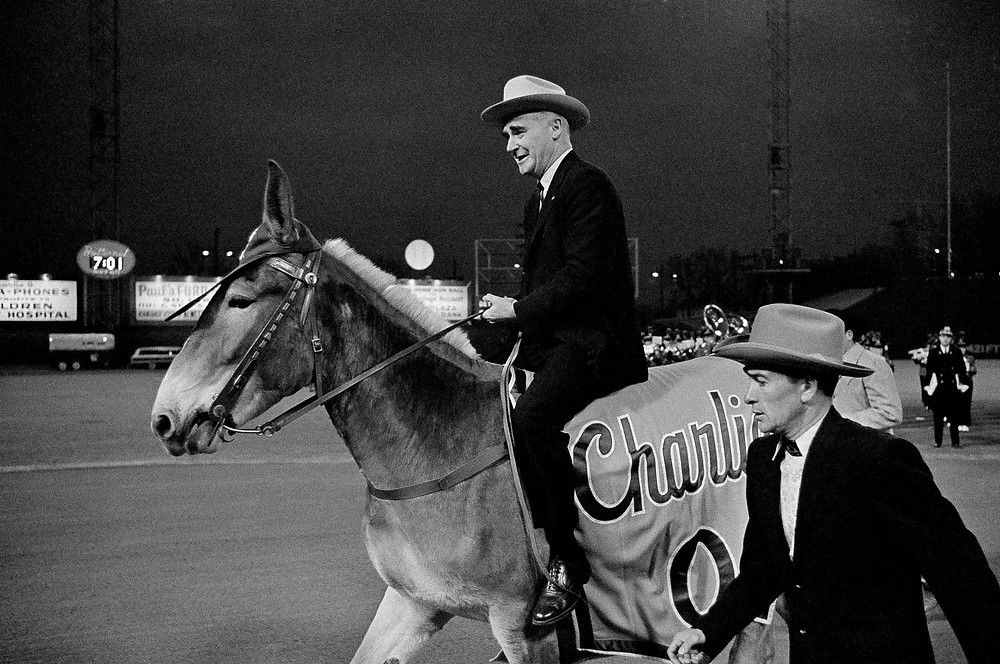 Charlie O. Finley and Chalie O, the mule.