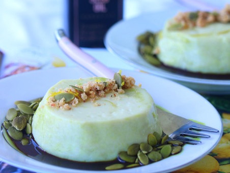 New Recipe: Pumpkin Seed Oil Panna Cotta