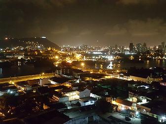 A view of Pie de Popa in Cartagena at night.