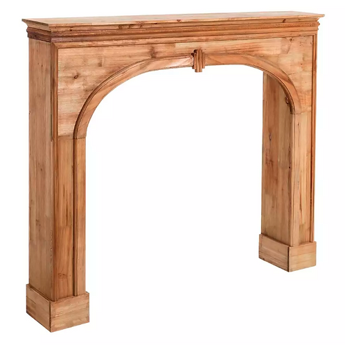 Frente de Chimenea en madera natural 116 X 19,50 X 102 CM