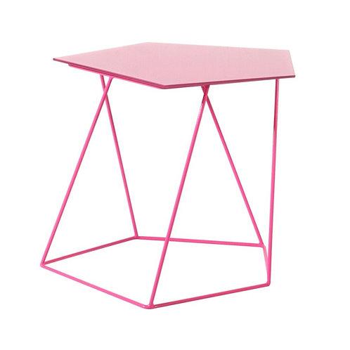 Mesa auxiliar rosa 55x43x47 cm