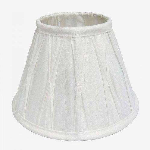 Pantalla de seda catedral 45 cm blanco