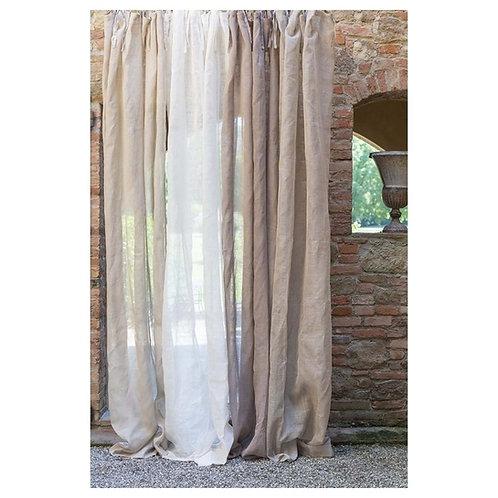 Cortina lino lavado varios colores 150 x 290 cm
