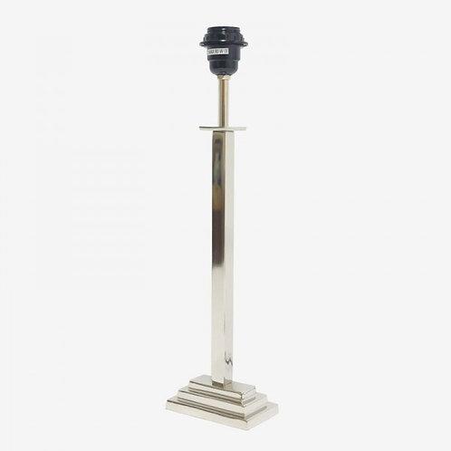 Lámpara tubo cuadrado escalera plateada 45,5