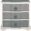 Thumbnail: Mesilla de noche madera lavada 3 cajones 2 colores 55x35x55 cm