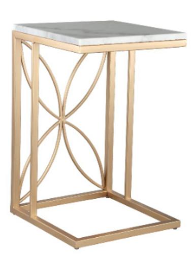 Mesa auxiliar mármol/oro 3 modelos