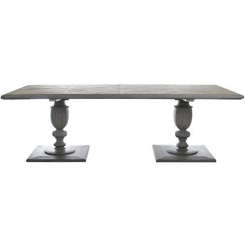 Mesa de comedor de madera de teka 240 x 110 x 77 cm