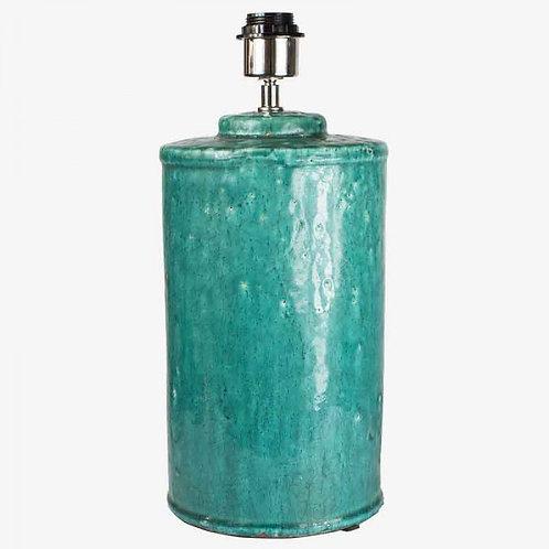 Lámpara craquelada azul rústico