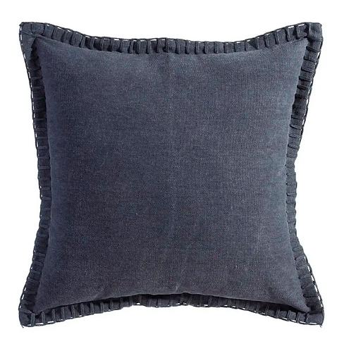 Cojín Azul Oscuro algodón 45x45