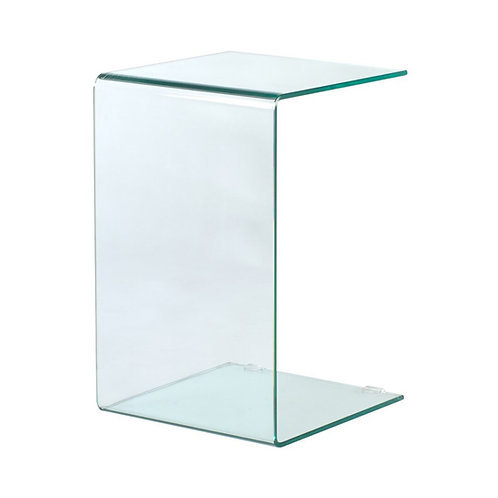 Mesa auxiliar transparente 40 x 40 x 60 cm