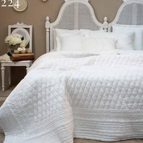 Colcha Boutí Blanca para cama de matrimonio 260 x 260