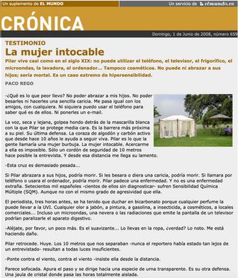 Crónica. El Mundo. Jun. 2008