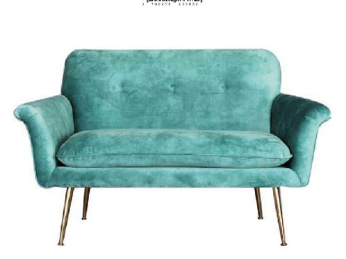 Sofá de terciopelo 2 colores 130 x 76 x 82 cm