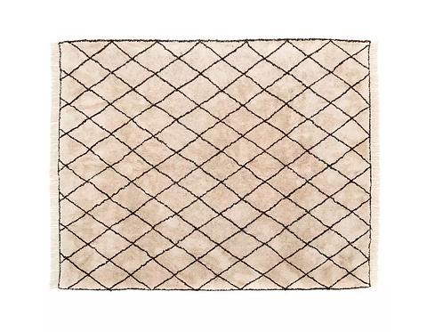 Alfombra Bereber algodón B/N 3 x 2,40 m.