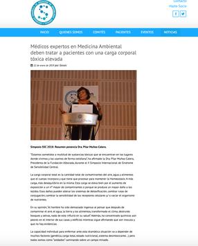 Sociedad Española del Síndrome de Sensibilidad Central. Ene. 2019