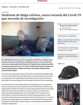 Europa Press. Síndrome de Fatiga Crónica. Jun. 2020