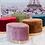 Thumbnail: Puff de terciopelo redondo varios colores 60 x 40 cm