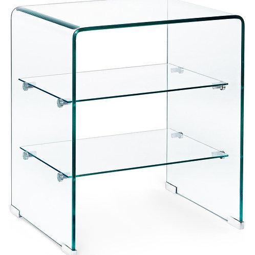 Mueble auxiliar de despacho transparente 50x40x58 cm