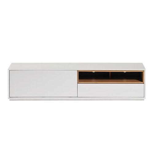 Mueble TV blanco/madera 180 x 42,5 x 45 cm