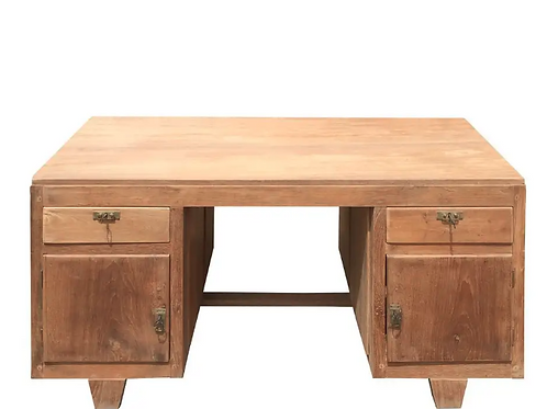 Mesa de despacho/escritorio antigua madera de teka 3 modelos