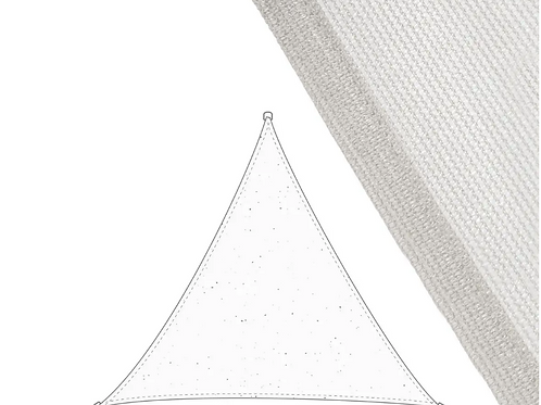 Vela sombreo triangular 3,5 x 3,5 x 3,5 m.