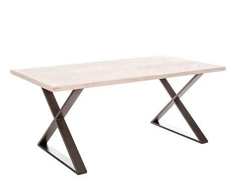 Mesa de comedor madera - metal 180 x 90 x 76,5 cm