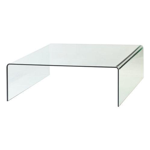 Mesa de centro transparente 110 x 110 x 38 cm