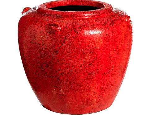 Macetero terracota rojo o verde varios tamaños