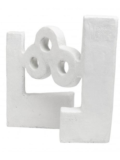 Escultura AGUA ESCULTURA ÓXIDO BLANCO