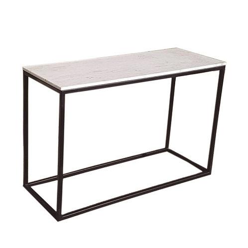 Consola mármol/hierro negro 120 x 45 x 79 cm