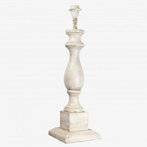 Lámpara copa madera blanca 17,5x17,5x59,4 cm