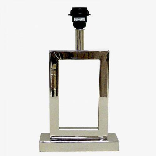 Lámpara U pequeña tubo cuadrado plateada 35 cm