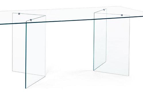 Mesa de comedor transparente 180x90x75 cm