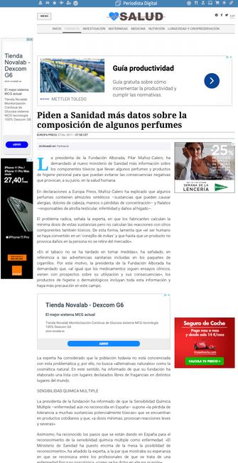 Periodista digital. Salud. Dic. 2011