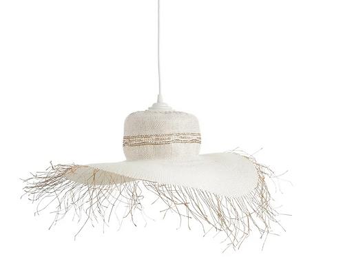 Lámpara de techo natural cuerda 62 cm.