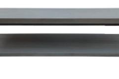 Mesa de centro piedra y metal gris marengo 150x50x45 cm
