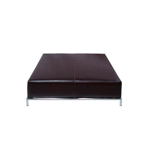 Mesa de centro de cuero 105 x 105 x 40 cm