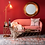 Thumbnail: Mesa auxiliar oro/cristal 40 x 40 x 51 cm