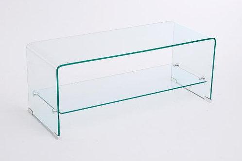 Mueble TV cristal con balda 100 x 40 x 40 CM