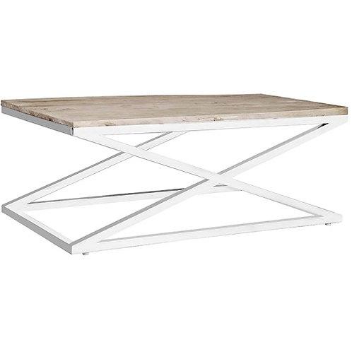 Mesa de centro Olmo reciclado/acero 120 x 70 x 47,5 cm